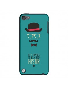 Coque Chapeau, Lunettes, Moustache, Noeud Papillon To Be a Good Hipster pour iPod Touch 5 - Eleaxart
