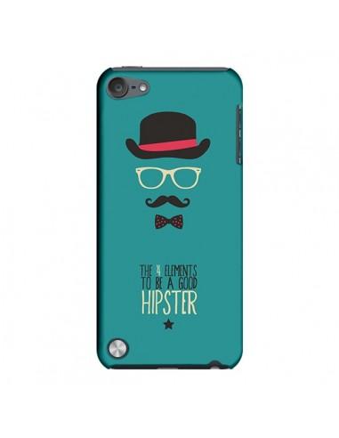 Coque Chapeau, Lunettes, Moustache, Noeud Papillon To Be a Good Hipster pour iPod Touch 5 - Eleaxart