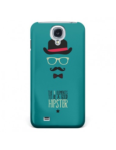 Coque Chapeau, Lunettes, Moustache, Noeud Papillon To Be a Good Hipster pour Galaxy S4 - Eleaxart