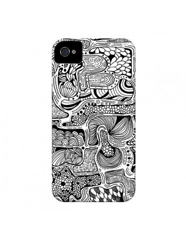 Coque Reflejo Reflet Noir et Blanc pour iPhone 4 et 4S - Eleaxart