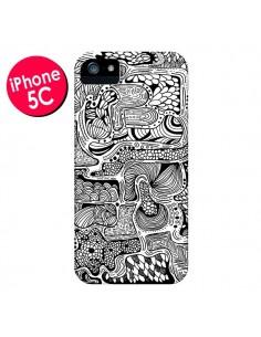 Coque Reflejo Reflet Noir et Blanc pour iPhone 5C - Eleaxart