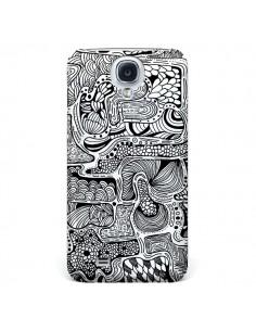 Coque Reflejo Reflet Noir et Blanc pour Galaxy S4 - Eleaxart