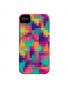 Coque Exotic Mosaic Pixels Azteque pour iPhone 4 et 4S - Eleaxart
