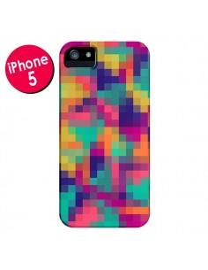 Coque Exotic Mosaic Pixels Azteque pour iPhone 5 et 5S - Eleaxart
