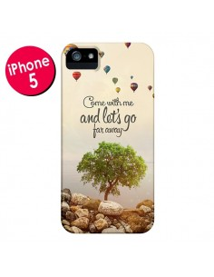 Coque Let's Go Far Away Ballons pour iPhone 5 et 5S - Eleaxart