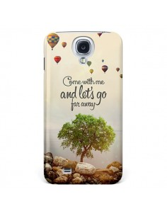 Coque Let's Go Far Away Ballons pour Galaxy S4 - Eleaxart