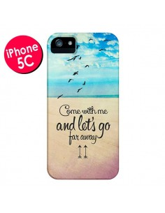 Coque Let's Go Far Away Beach Plage pour iPhone 5C - Eleaxart