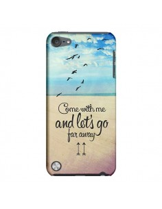 Coque Let's Go Far Away Beach Plage pour iPod Touch 5 - Eleaxart
