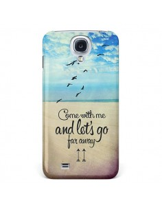 Coque Let's Go Far Away Beach Plage pour Galaxy S4 - Eleaxart