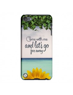 Coque Let's Go Far Away Flower Fleur Tournesol pour iPod Touch 5 - Eleaxart