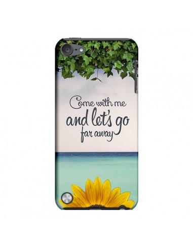 Coque Let's Go Far Away Flower Fleur Tournesol pour iPod Touch 5 - Eleaxart