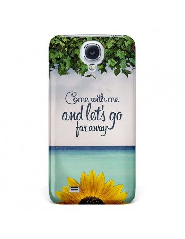 Coque Let's Go Far Away Flower Fleur Tournesol pour Galaxy S4 - Eleaxart