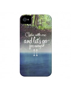Coque Let's Go Far Away Forest Foret pour iPhone 4 et 4S - Eleaxart