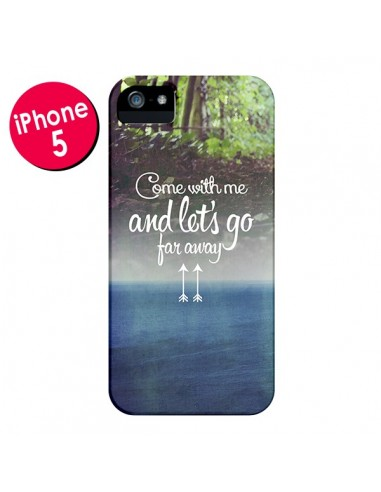 Coque Let's Go Far Away Forest Foret pour iPhone 5 et 5S - Eleaxart