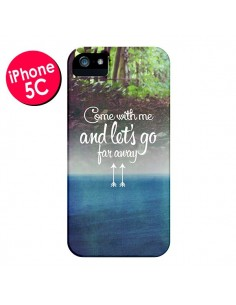 Coque Let's Go Far Away Forest Foret pour iPhone 5C - Eleaxart