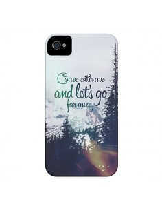 Coque Let's Go Far Away Snow Neige pour iPhone 4 et 4S - Eleaxart