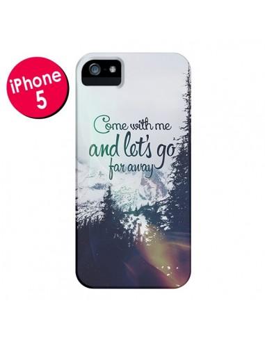 Coque Let's Go Far Away Snow Neige pour iPhone 5 et 5S - Eleaxart