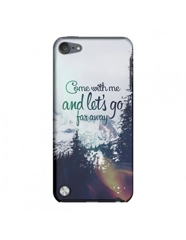Coque Let's Go Far Away Snow Neige pour iPod Touch 5 - Eleaxart