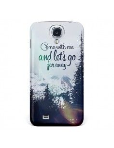 Coque Let's Go Far Away Snow Neige pour Galaxy S4 - Eleaxart