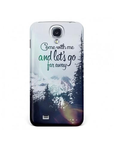 Coque Let's Go Far Away Snow Neige pour Galaxy S4 - Eleaxart