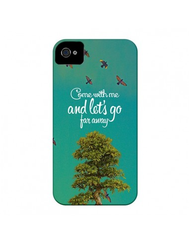 Coque Let's Go Far Away Tree Arbre pour iPhone 4 et 4S - Eleaxart