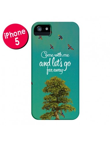 Coque Let's Go Far Away Tree Arbre pour iPhone 5 et 5S - Eleaxart