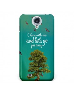 Coque Let's Go Far Away Tree Arbre pour Galaxy S4 - Eleaxart