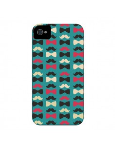 Coque Hipster Moustache Noeud Papillon pour iPhone 4 et 4S - Eleaxart