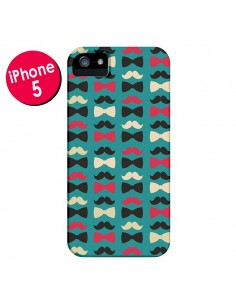 Coque Hipster Moustache Noeud Papillon pour iPhone 5 et 5S - Eleaxart