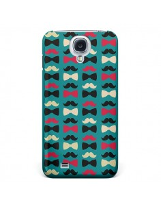Coque Hipster Moustache Noeud Papillon pour Galaxy S4 - Eleaxart