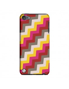 Coque Lignes Triangle Azteque Rose Rouge pour iPod Touch 5 - Eleaxart