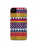 Coque Mexican Triangle Aztec Azteque pour iPhone 4 et 4S - Eleaxart