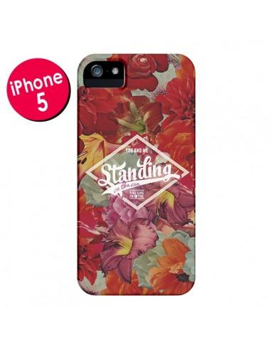 Coque Standing On The Sun Fleur pour iPhone 5 et 5S - Eleaxart