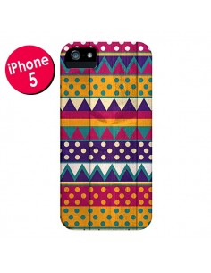 Coque Mexican Triangle Aztec Azteque pour iPhone 5 et 5S - Eleaxart