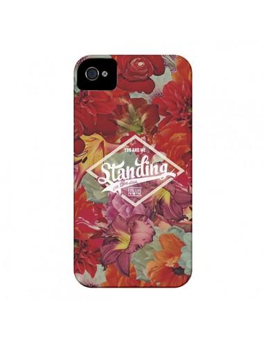 Coque Standing On The Sun Fleur pour iPhone 4 et 4S - Eleaxart