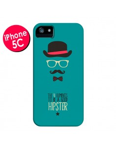 Coque Chapeau, Lunettes, Moustache, Noeud Papillon To Be a Good Hipster pour iPhone 5C - Eleaxart