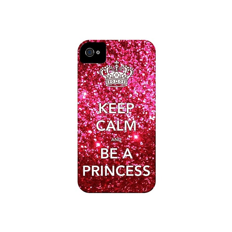 Coque Keep Calm and Be A Princess pour iPhone 4 et 4S