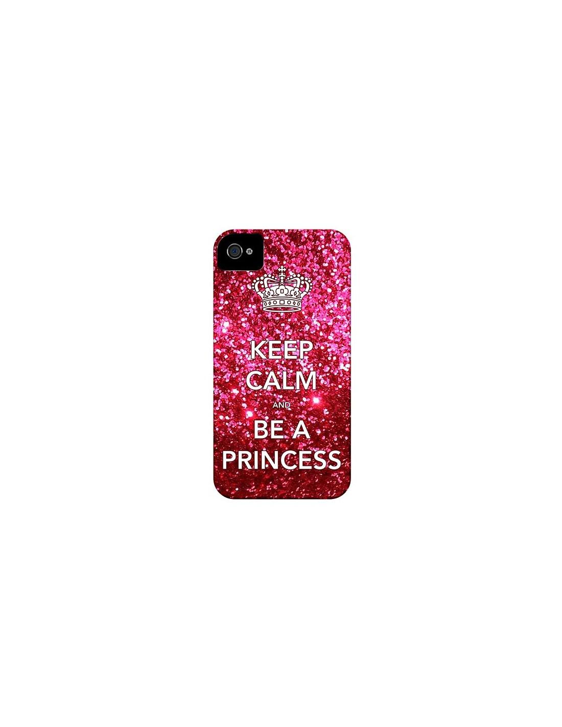 coque iphone 4 et 4s keep calm and be a princess nico