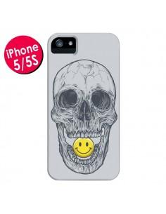 Coque Smiley Face Tête de Mort pour iPhone 5 et 5S - Rachel Caldwell