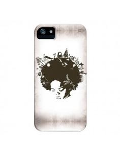 Coque Childhood Garden Afro pour iPhone 4 et 4S - Rachel Caldwell