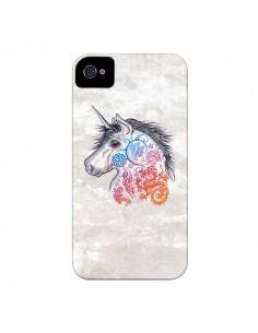 Coque Licorne Muticolore pour iPhone 4 et 4S - Rachel Caldwell