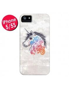Coque Licorne Muticolore pour iPhone 5 et 5S - Rachel Caldwell