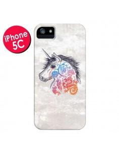 Coque Licorne Muticolore pour iPhone 5C - Rachel Caldwell
