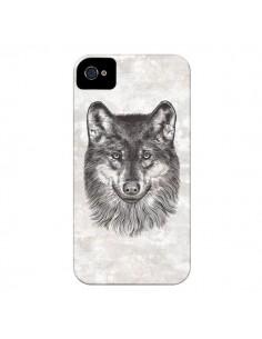 Coque Loup Gris pour iPhone 4 et 4S - Rachel Caldwell