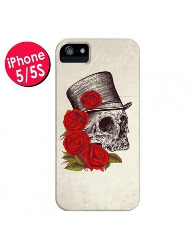Coque Gentleman Crane Tête de Mort pour iPhone 5 et 5S - Rachel Caldwell