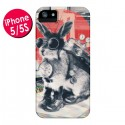 Coque Lapin Time Traveller pour iPhone 5 et 5S - Ali Gulec