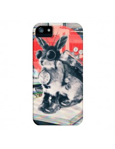 Coque Lapin Time Traveller pour iPhone 4 et 4S - Ali Gulec