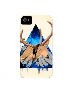Coque Cerf Triangle Seconde Chance pour iPhone 4 et 4S - Maximilian San