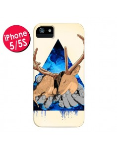 Coque Cerf Triangle Seconde Chance pour iPhone 5 et 5S - Maximilian San