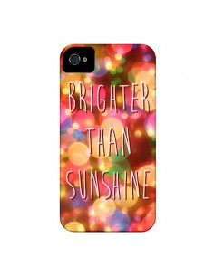Coque Brighter Than Sunshine Paillettes pour iPhone 4 et 4S - Maximilian San